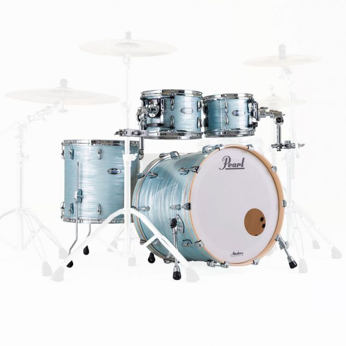 Pearl Masters Maple Complete 4pc Shell Pack 22in Ice Blue Oyster
