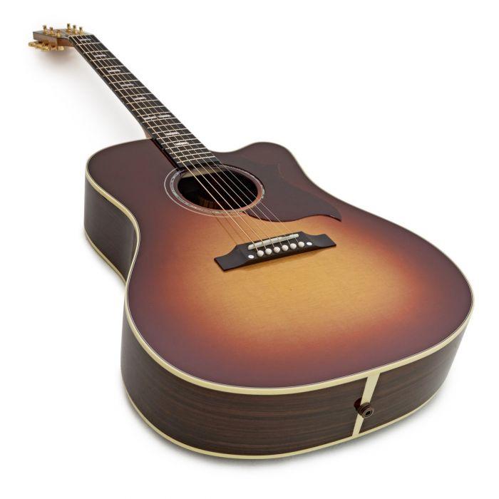Gibson Hummingbird M Rosewood Burst Bottom Angled