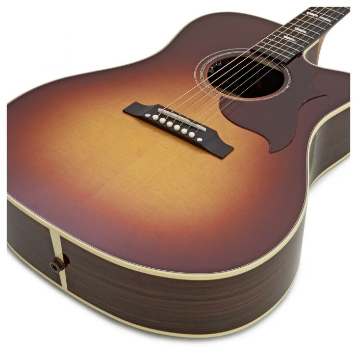Gibson Hummingbird M Rosewood Burst Body Detail