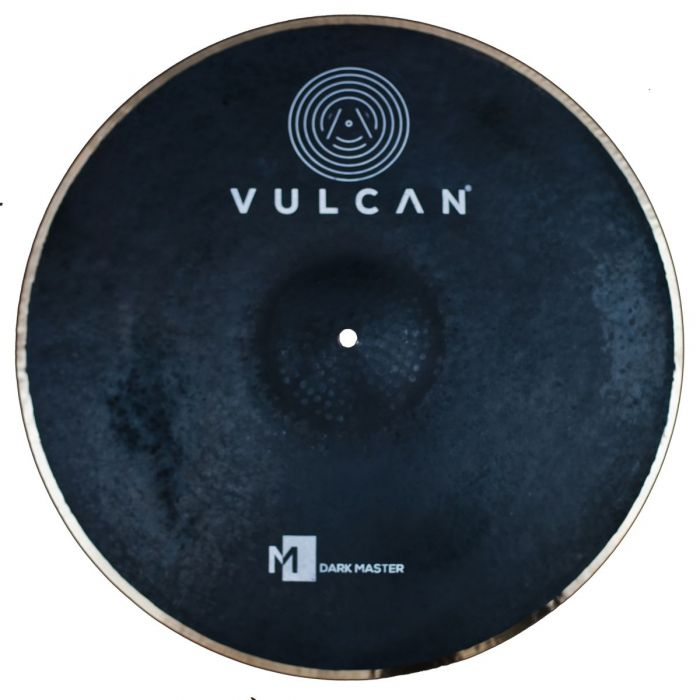 Top down view of a Vulcan Dark Master 22 inch Ride Cymbal