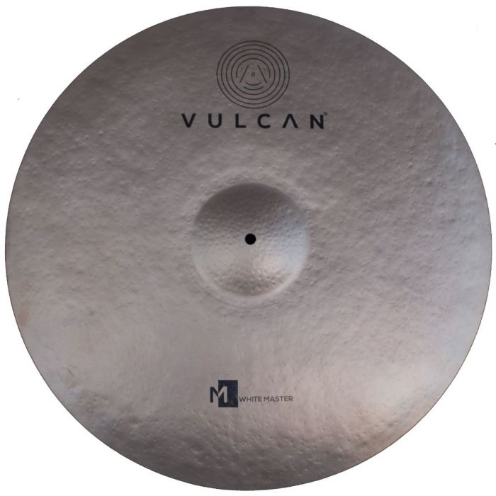 Top down view of a Vulcan White Master 24 inch Ride Cymbal