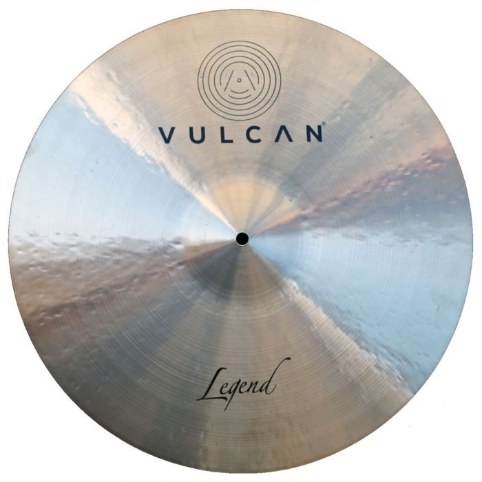 Top down view of a Vulcan Legend 21 inch Ride Cymbal
