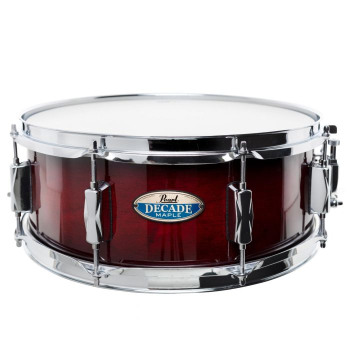 Pearl Decade Maple Snare Drum Gloss Deep Red Burst 14 x 5.5