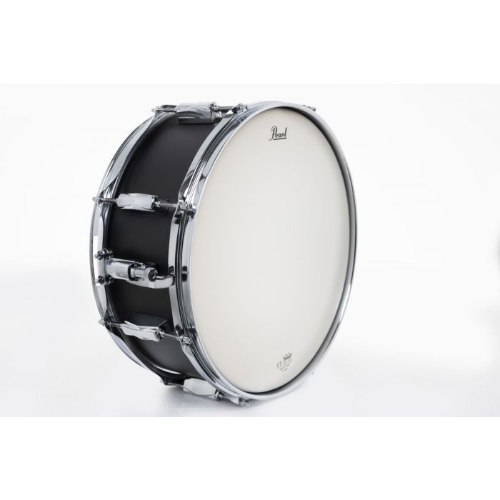 A View of The Pearl Decade Maple Snare Drum On Its Side