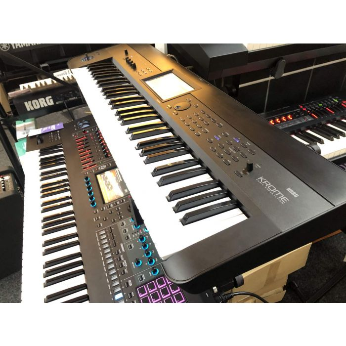 Side View of B-Stock Korg Krome 61 Synthesizer Workstation