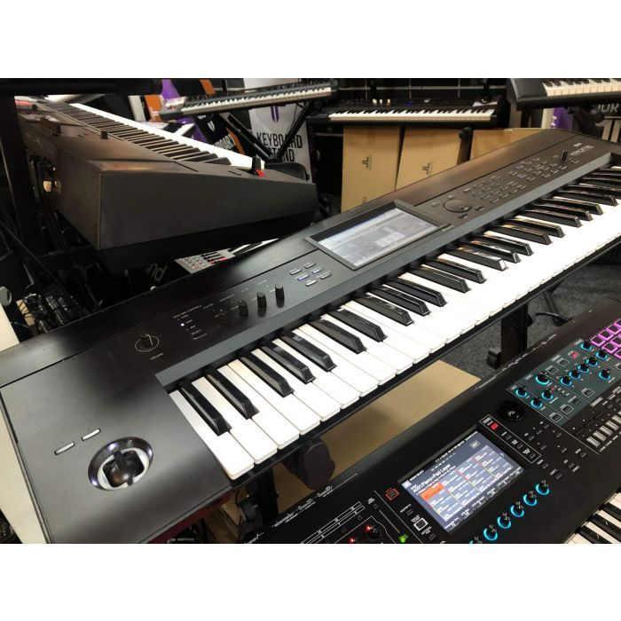 Angled View of B-Stock Korg Krome 61 Synthesizer