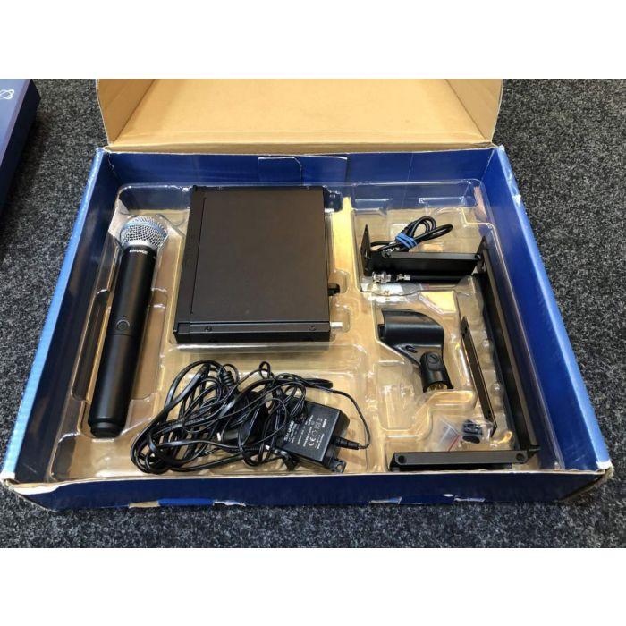 B-Stock Shure BLX24RUK Beta58A Rack Mount Wireless Mic System in its open box