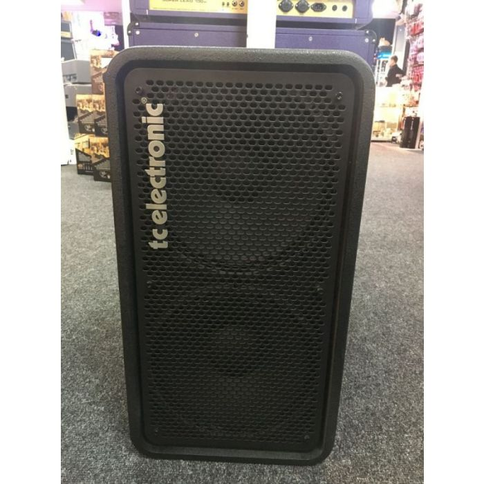 Full frontal view of an Ex Display TC Electronic RS212 2 x 12 Bass Cabinet
