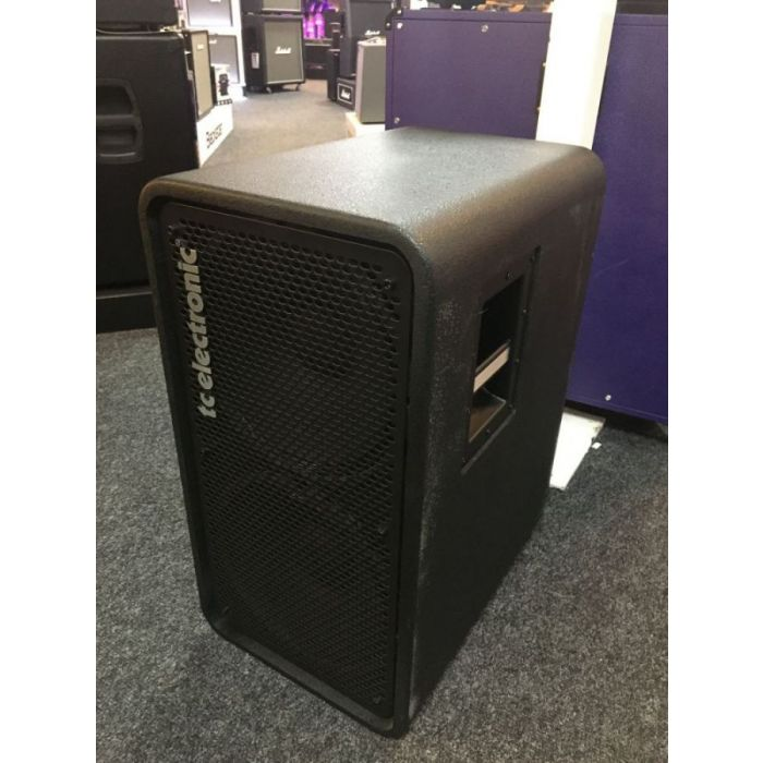 Front right angled view of a Ex Display TC Electronic RS212 2 x 12 Bass Cabinet