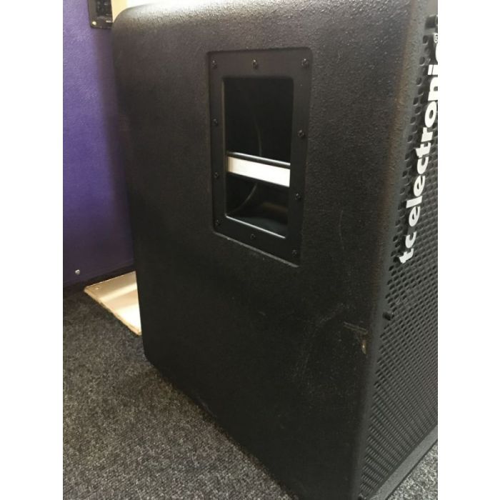 Side-on view of an Ex Display TC Electronic RS212 2 x 12 Bass Cabinet
