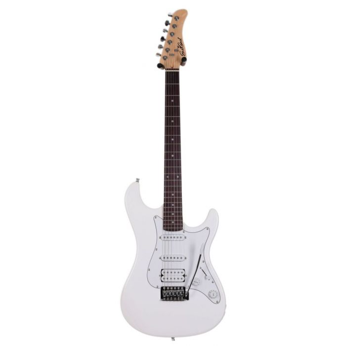 Full frontal view of a Eastcoast GS100H-AWT HSS Electric Guitar Arctic White