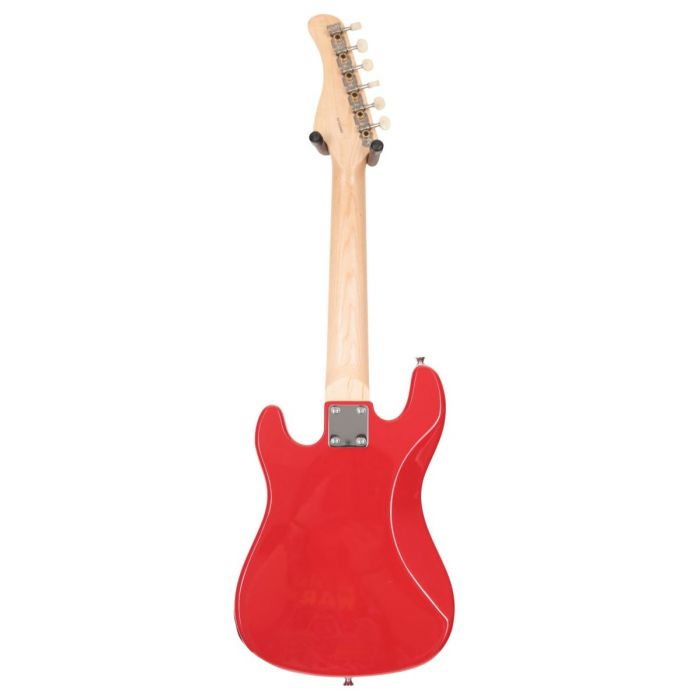 Back of Eastcoast GK20 V2 Mini S-Type Electric Guitar Red