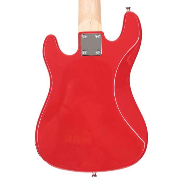 Eastcoast GK20 V2 Red Mini Guitar Back