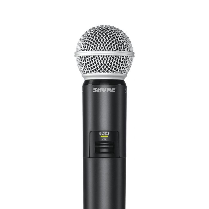 Close-Up of Shure GLXD2 SM28 Wireless Microphone