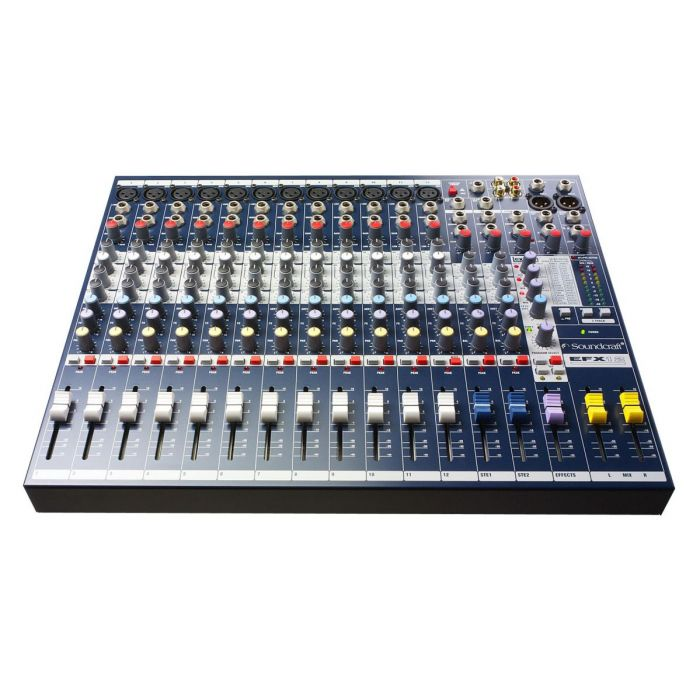 Front View of Soundcraft EFX12 Mixer