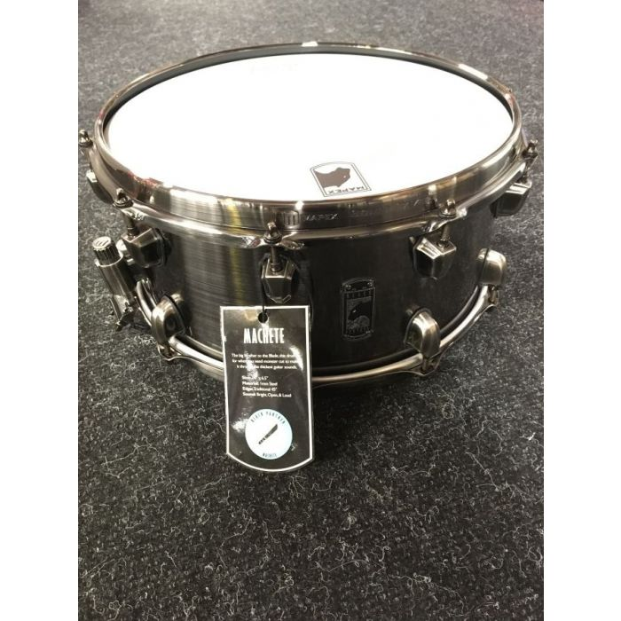 Full view of a B-Stock Mapex Black Panther Machete 14x6.5 Snare