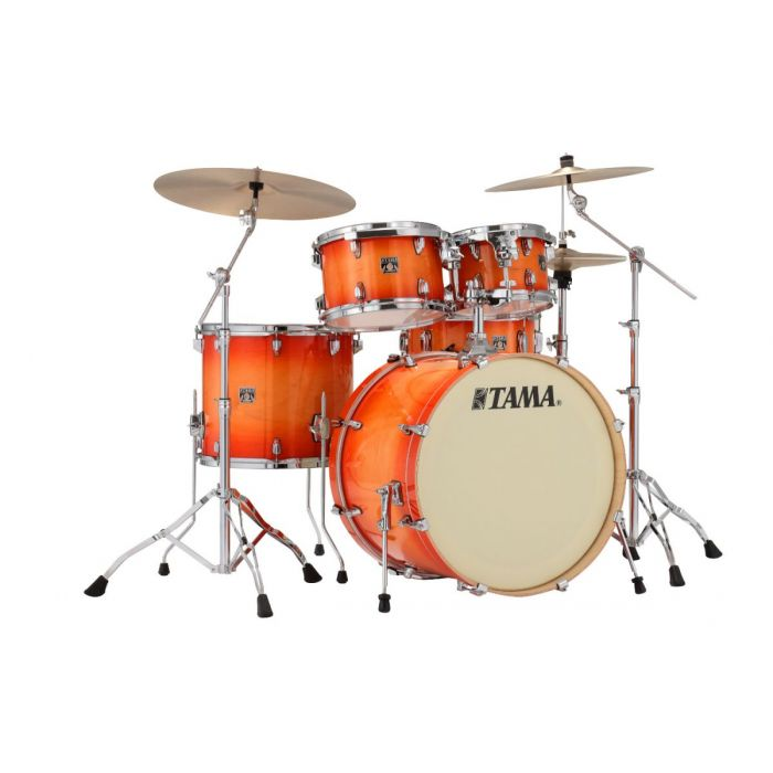 Tama Superstar Classic 5-Piece Drum Kit with Hardware Tangerine Lacquer Burst - Cymbals Not Included