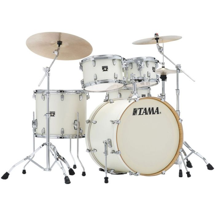 Tama Superstar Classic 5-Piece Drum Kit with Hardware Satin Arctic Pearl - Cymbals Not Included