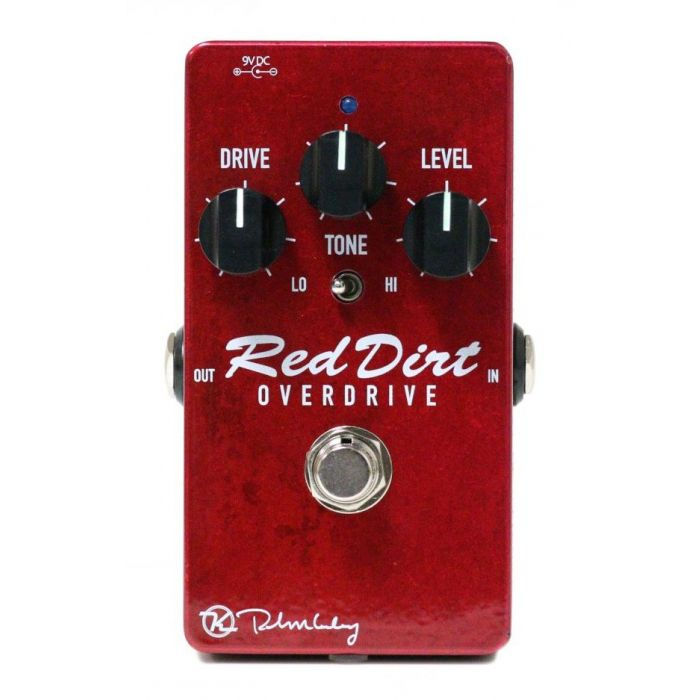 Top-down view of a Keeley Red Dirt Overdrive Pedal