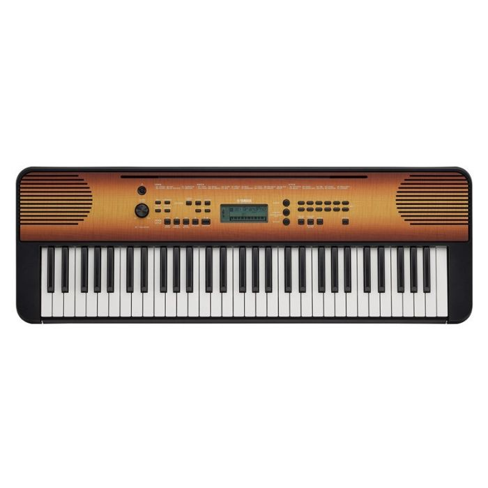 Yamaha PSR-E360 Portable Keyboard Maple Top View
