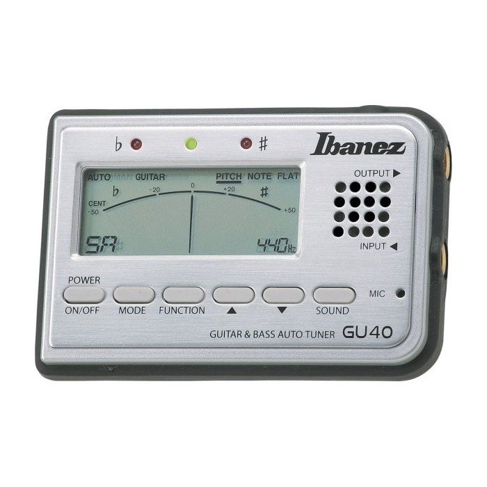 Ibanez GU40 SL Silver Guitar and Bass Auto Tuner