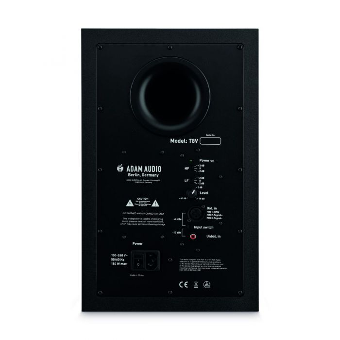 Back of Adam Audio T8V Studio Monitor