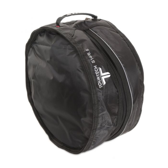 Angled View of TourTech Pro 14 Inch Snare Bag