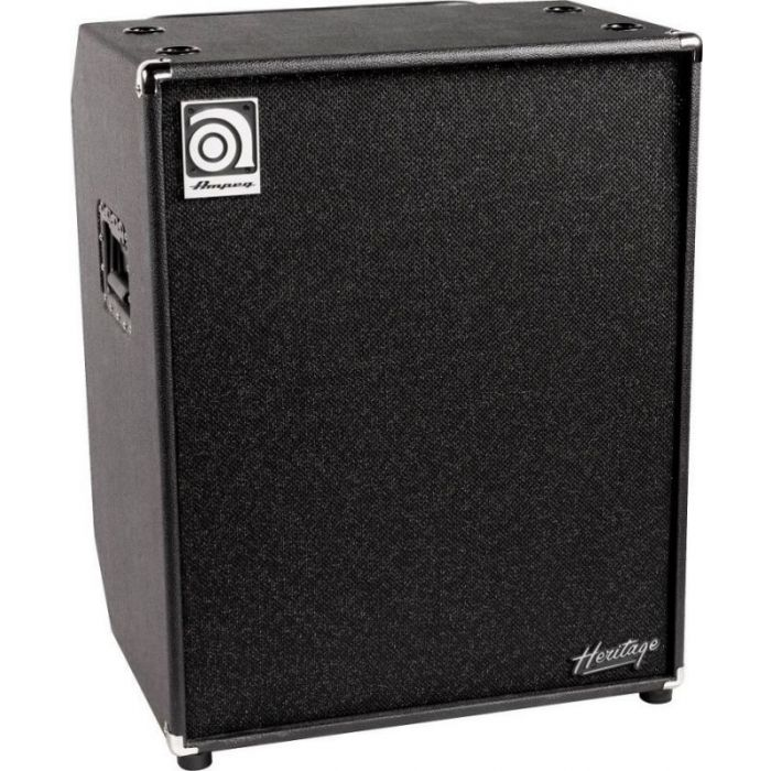 Front angled view of a Ampeg HSVT-410HLF USA 4 z 10 Speaker Cabinet