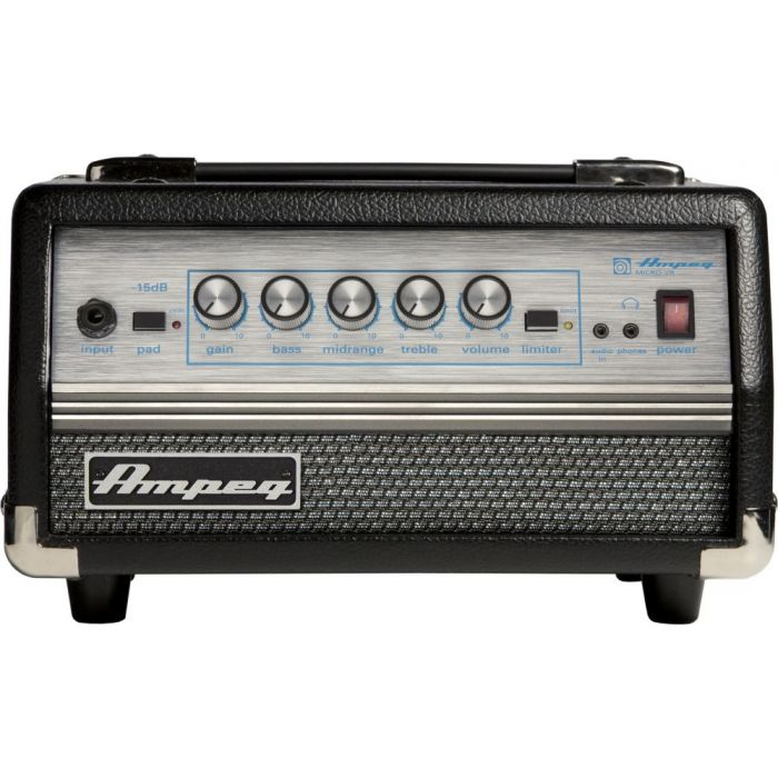Full frontal view of an Ampeg Micro VR Bass Head