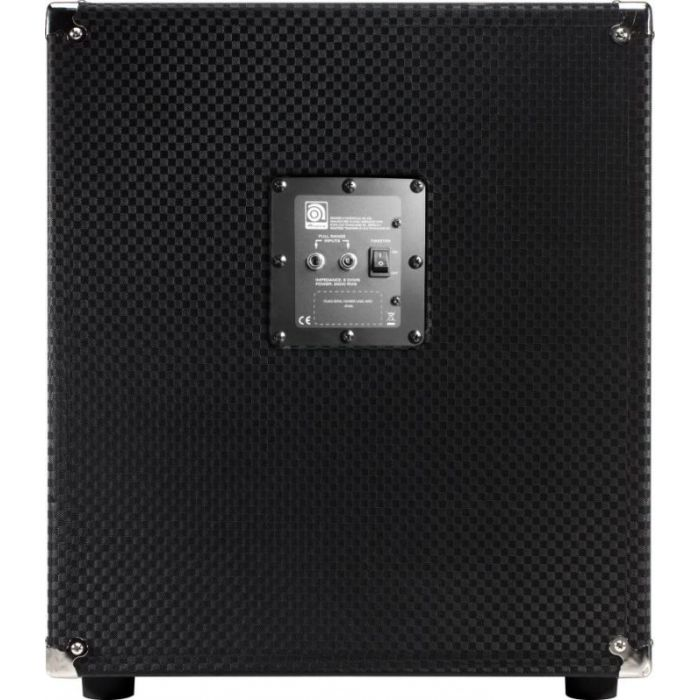 Rear panel view of an Ampeg PF-112HLF 1x12 200W Bass Speaker Cabinet