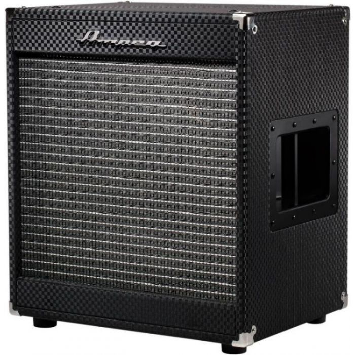 Front left angled view of an Ampeg PF-112HLF 1x12 200W Bass Speaker Cabinet