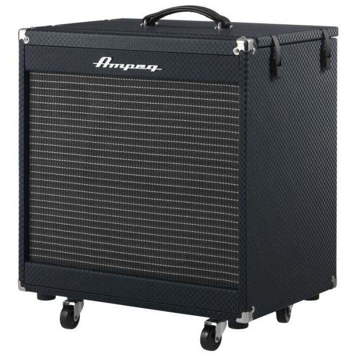 Front left-angled view of an Ampeg Portaflex PF-210HE Bass Cab