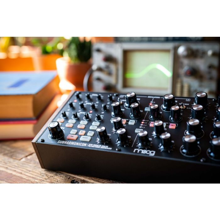 Angled Shot of Moog Subharmonicon Analog Synth In The Studio