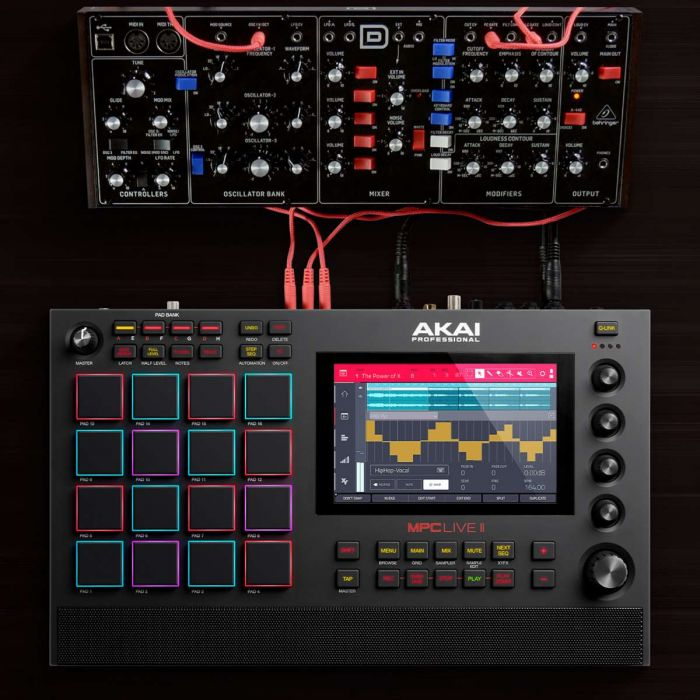 Akai MPC Live II Connected To more Gear