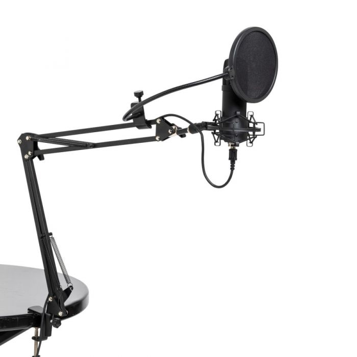 Stagg SUM45 USB Microphone with Accessories On Table