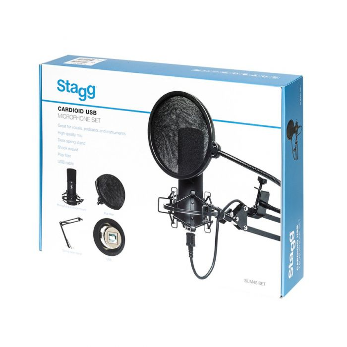 Stagg SUM45 USB Microphone Set Packaging