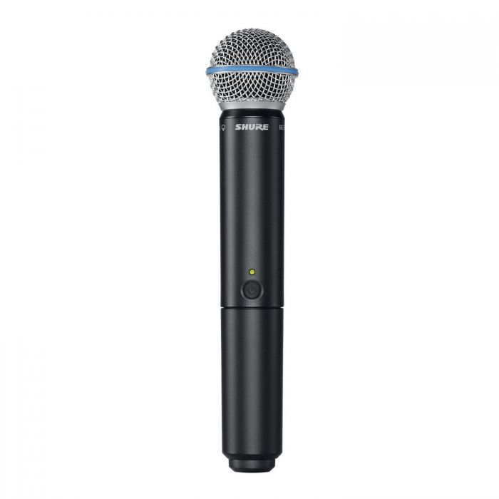 Full view of a Shure BLX2-B58 Handheld Wireless Microphone