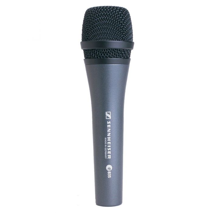 Frotn view of a Sennheiser E835 Cardioid Dynamic Vocal Microphone
