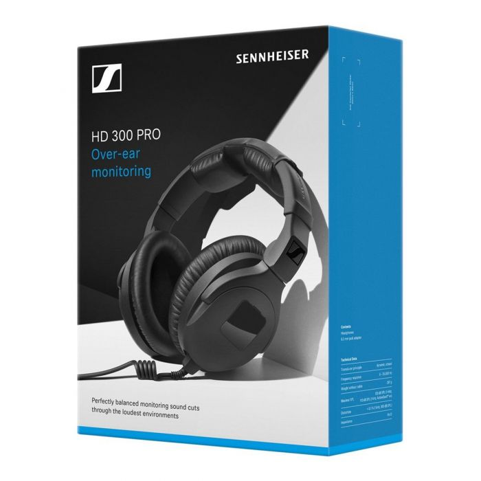 Sennheiser HD 300 PRO Monitoring Headphones set in a box