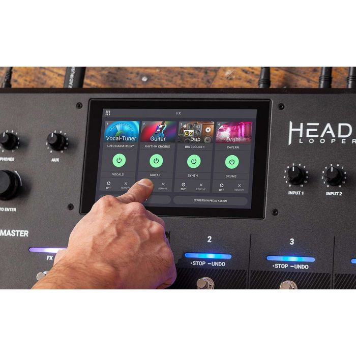 Another View of The HeadRush Looperboard Looper Pedal Display