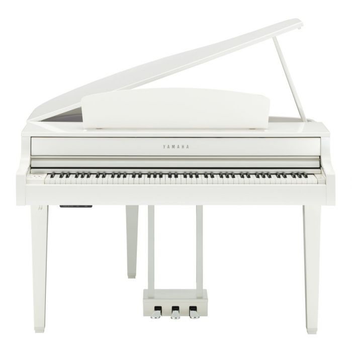 Front View of Yamaha CLP-765GP Digital Piano Polished White