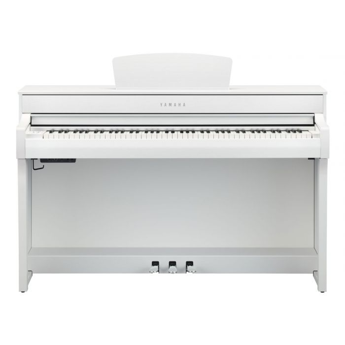 Front View of Yamaha CLP-735 Digital Piano White