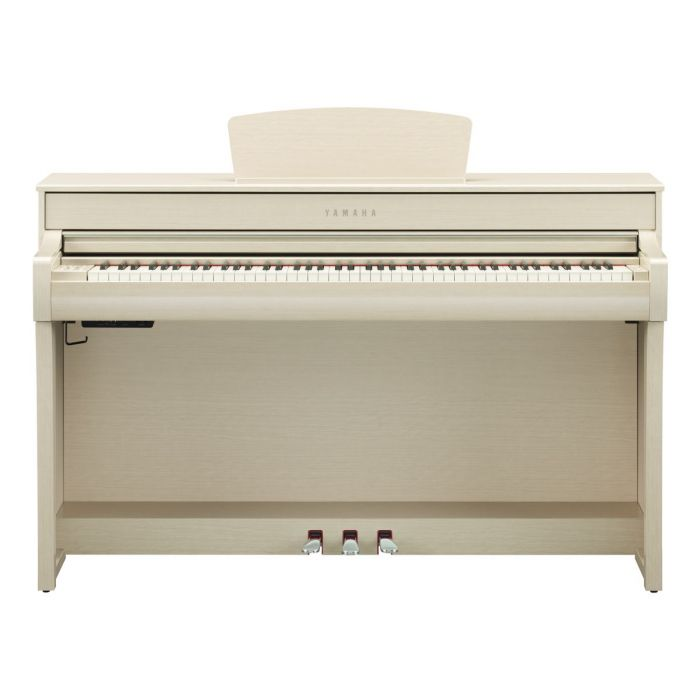 Front View of Yamaha CLP-735 Digital Piano White Ash