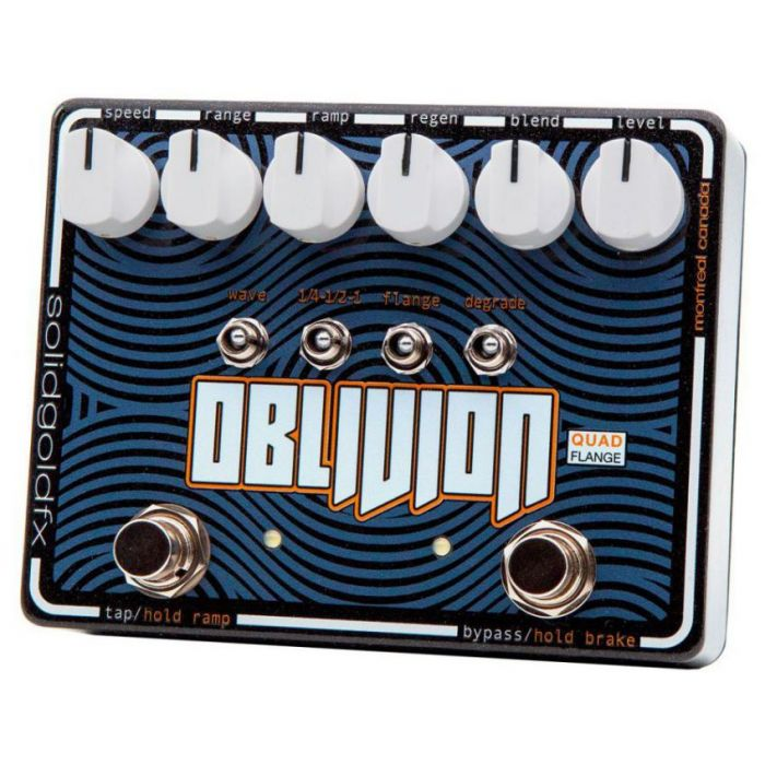 SolidGoldFX OBLIVION Quad Flange Pedal Right Angled View
