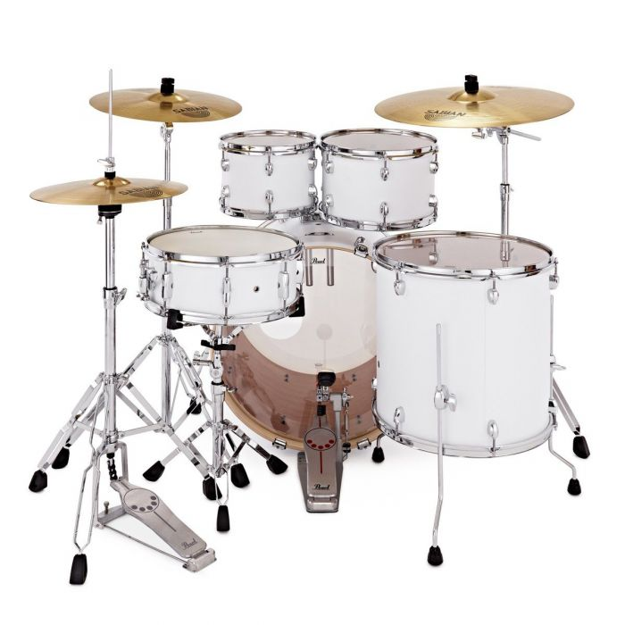 Back of Pearl Export EXX 5-Piece Drum Kit Matt White