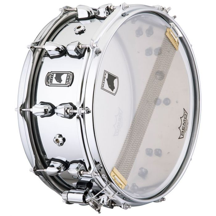 underside view of a Mapex Black Panther Cyrus 14x6 Inch Snare Drum