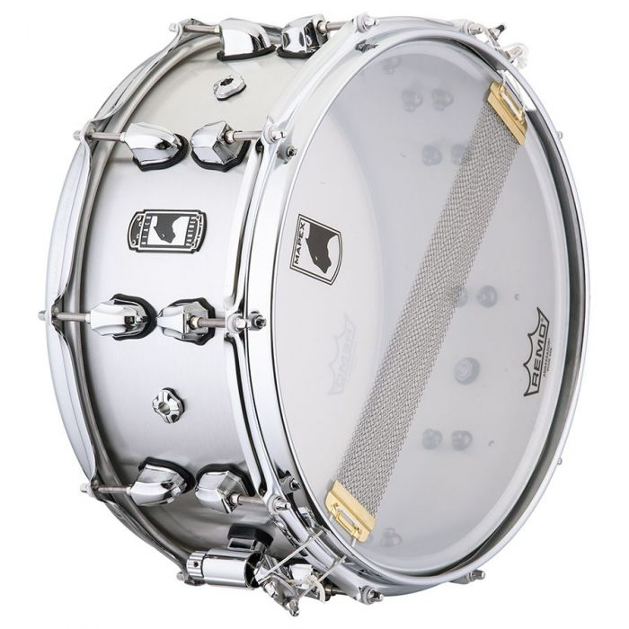 Underside view of a Mapex Black Panther Atomizer Aluminium Snare