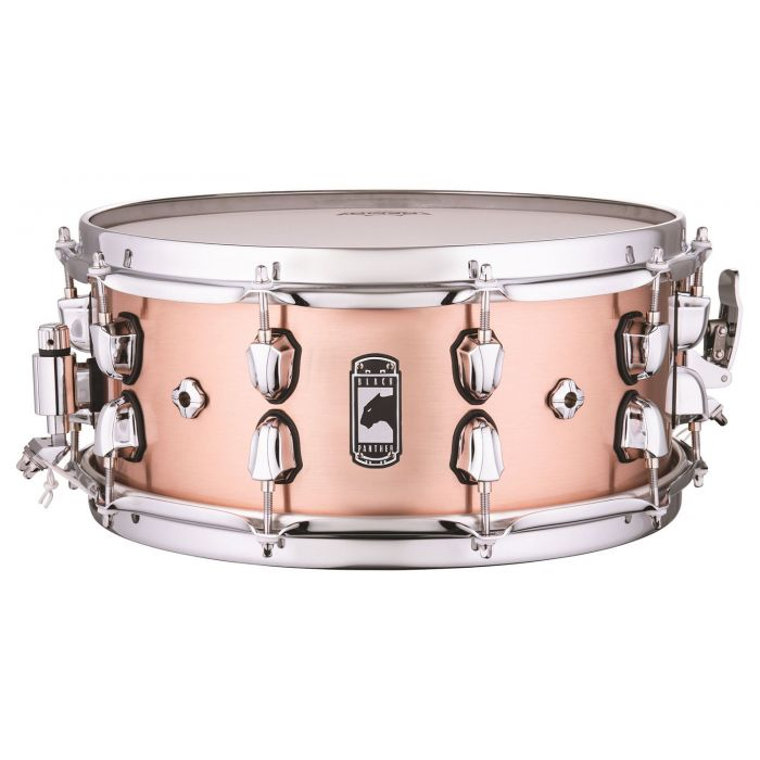 Full view of a Mapex Black Panther Predator Copper Snare
