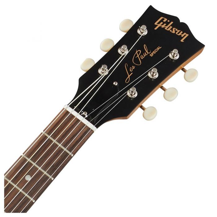 Gibson Les Paul Special Tribute P-90 Natural Walnut Headstock Front