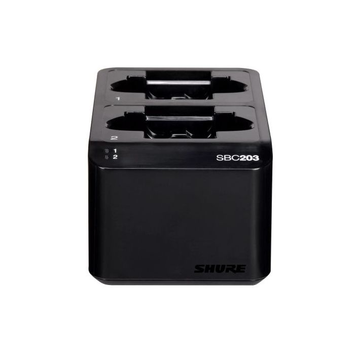 Shure Dual Dock Charger SB203 Front View